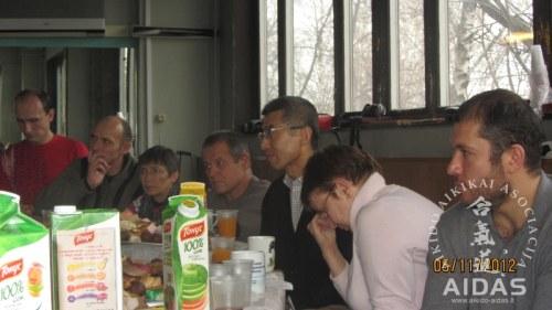 Šihano Siodzi Seki seminaras Maskvoje, Koinobori Dodzio, 2012 11 02-06