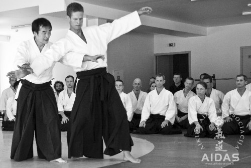 Y. Kobayashi, 7 Dan Aikido Hombu Dodzio, Tokijus, seminaras, Vilnius 2013 07