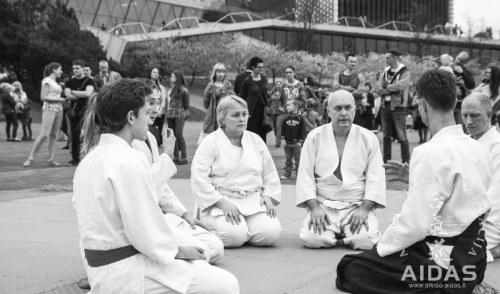 Aikido praktika sakurų parke 2015