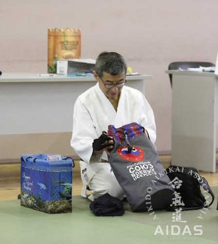 Šihano Siodzi Seki, 8 Dan Aikikai Hombu Dodzio, Tokijus, seminaras Maskvoje 2016 04